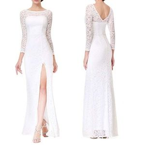 Ever Pretty Wedding Evening Dress Slit